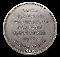 1833 Royal Cornwall Polytechnic Society Silver Medal By Wyon
