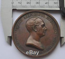 1852 Imperial Russia Poet ZHUKOVSKY Bronze Commemorative Table Medal Diakov R0
