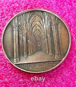 1852 Jacques Wiener Cathédrale Notre-Dame de Reims medal French Royal Church