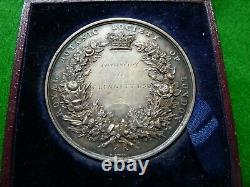 1861 Royal Botanic Society Of London Silver Award Medal Fuchsias Ef