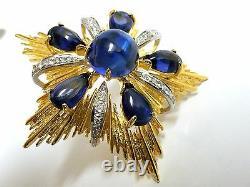 18kt 40ct Royal Medallion Brooch Pin Pendant Pearl Enhancer Ascot Knot+