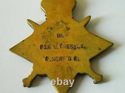 1915 Star medal to Trebble, Royal Newfoundland Regt, 1st July 1916 casualty