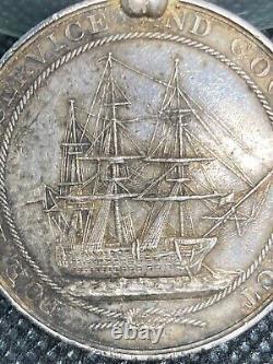 19c. Victoria Silver Medal Order Long Service Good Conduct HMS HIBERNIA Ship Navy