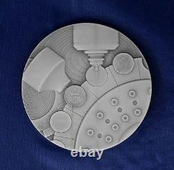 2010 Royal Mint 155g Silver 65mm Medal in Case with COA