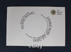 2011 Royal Mint 155g Silver 65mm Medal in Case with COA (AA5/58)