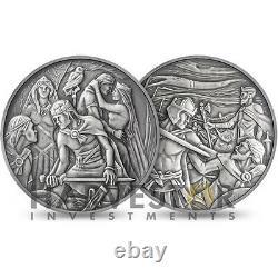 2012 Royal Mint 8 Oz. Silver Masterpiece Medal King Arthur Mintage 500