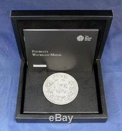 2015 Royal Mint Silver Medal Pistrucci Waterloo in Case with COA (AA5/13)