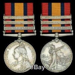 3 Clasp Queens South Africa Medal Royal Dublin Fusiliers P. O. W