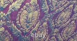 3pc Set CROSCILL IMPERIAL EMPRESS Queen Blk Red Gold MEDALLION Comforter Shams