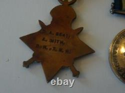 A Good, World War One Medal Trio To Royal Navy, Naval Reserve