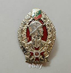 A+ RARE BULGARIAN MEDAL BADGE ORDER ENAMEL ROYAL for BRAVERY BORIS III 1st CLASS