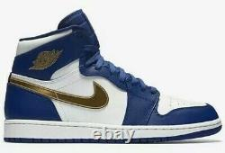 Air Jordan 1 Retro High Gold Medal Royal Blue Shoes Men's Size 18 332550-406