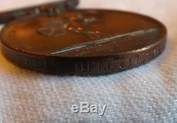 An Original Royal Humane Society Bronze Life Saving Medal With Certificate 3044