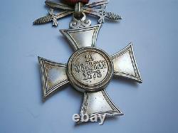 Antique OLD MEDAL ORDER ROYAL ST. ALEXANDER MILITARY MERIT SWORDS VIcl