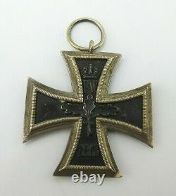 Antique Original WWI Imperial German Iron Cross 1813 1914 W Military Medal