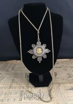 Antique guard chain, Victorian Pinchbeck chain, Imperial German medal