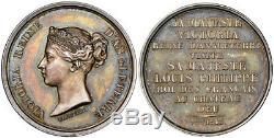 BRITAIN Victoria 1843 AR Royal Visit Medal NGC MS64 at Chateau d'Eu, France