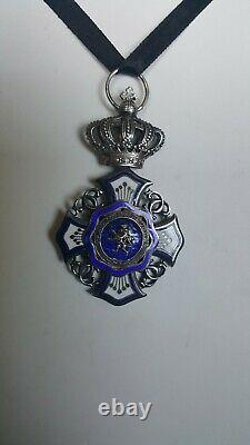 Belgian Royal Order of the Lion Knight Class Medal 2.75 X 1.5 Excellent Cond