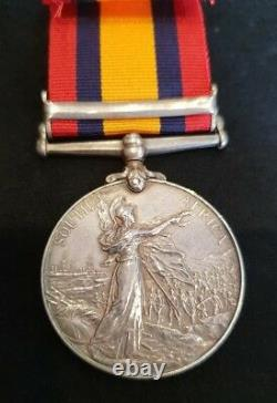 Boer War Queen's South Africa Medal QSA. Trooper G East 2nd Imperial Light Horse