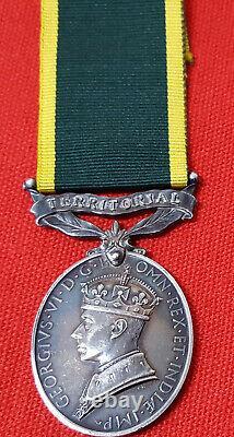 British Army Ww2 Royal Artillery Officers Efficiency Medal Major Allan Marshall