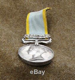 British Crimea Medal 1854 Clasp Sebastopol Azoff, Royal Navy Rim Engraved