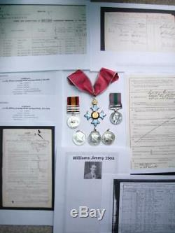 CBE medal Victorian Boer war QSA GSM Iraq SS Major Williams Imperial Yeomanry