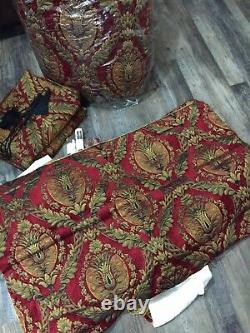CROSCILL IMPERIAL EMPRESS RED GOLD BLACK MEDALLION KING COMFORTER & Much More