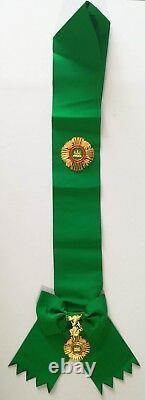 Cambodia Royal Order of Sowathara Commander Grand Cross Sash Topaz Stone Set
