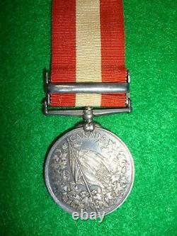 Canada General Ser. Medal, Fenian Raid Col. Sgt, 7th ex Royal Canadian Rifles