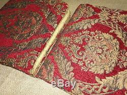 Croscill Imperial Red Gold Medallion (4pc) Queen Comforter Set