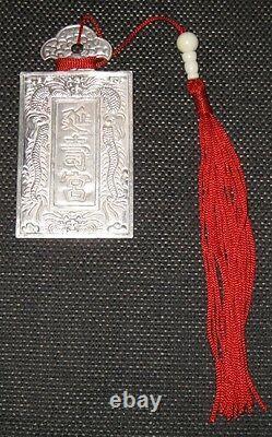 Dai-nam War -Royal Ordained Medal Of Ngân Bái Bar(Dien-Tho-Quan/Tong-Su)