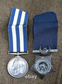 Egypt Medal Pair 2/1 South Irish Division, Royal Artillery Driver