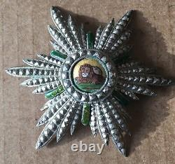 Empire of Iran Persia Imperial Order of Lion and Sun Breast Badge Medal Nichan