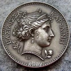 FRANCE NAPOLEONIC 1808 Queen Caroline VISIT OF ROYAL MINT MEMORIAL MEDAL, SILVER