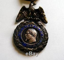 France Imperial Military Silver Medal, Order. Crimean War. Napoleon III