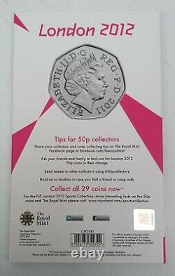 Full Set 2011 Olympics 50p Coins In Royal Mint Album + Completer Medallion