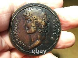 GRAND TOUR GREEK IMPERIAL MEDALLION 41mm 1700-1800S ANTINOUS Hadrians Favorite