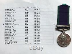 General Service Medal Borneo Royal Marines 40 or 42 Commando McPherson