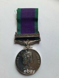 General Service Medal NORTHERN IRELAND clasp J J TOWNSLEY ROYAL MARINE