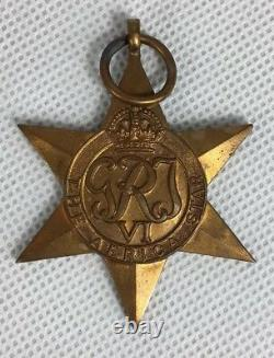 Genuine Royal Navy WW2 Boxed Medal Group Africa, Atlantic & Burma Star 1942-43