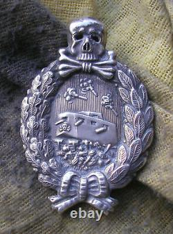 German- Imperial -Tank- Badge WWI (hollow embossed medal) ORIGINAL