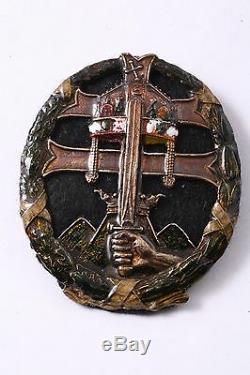 Hungarian Royal Army Leadership Badge Horthy WW2 Kingdom Hungary Medal Regiment