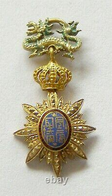 I553 Annam French Protectorate Imperial Order of the Dragon GOLD miniature OR