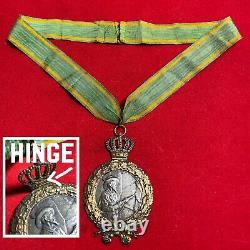 Imperial German 990 Silver Schutzenfest Shooting Award Konig Medal Kings Chain