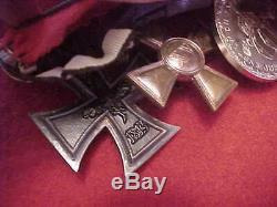 Imperial German Formal Medal Bar Wwi Era 4 Medals Estate Item