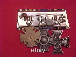Imperial German Medal Bar #2 Wwi Era 3 Medals Estate Item