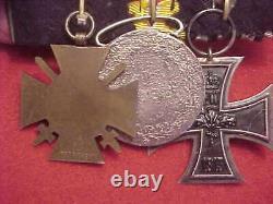 Imperial German Medal Bar #3 Wwi Era 3 Medals Estate Item