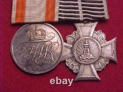 Imperial German Medal Bar Wwi Era 2 Medals Estate Item