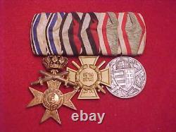 Imperial German Medal Bar Wwi Era 3 Medals Estate Item