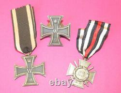 Imperial German insignia medal lot / Iron Cross 1st and 2 st Class 1870
